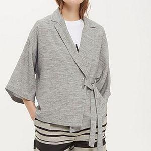 TOPSHOP Marl Wrap Kimono Jacket